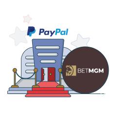 betmgm casino and paypal logo