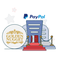 golden nugget casino and paypal logo