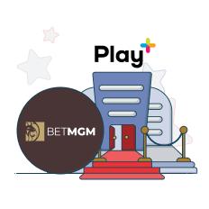 betmgm and play+ logo