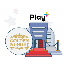 golden nugget and play+ logo