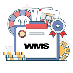 wms logo and game symbols