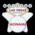 Konami logo with vegas welcome sign