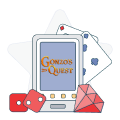 gonzo's quest on mobile device