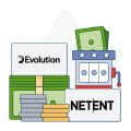 evolution gaming and netent logo