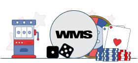wms logo with casino games symbols