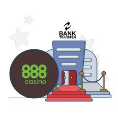 888casino and bank transfer logo