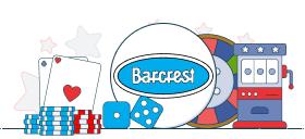 barcrest logo with casino games symbols