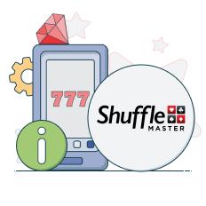 shuffle master logo and info symbols
