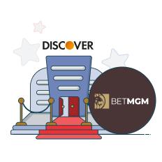 betmgm casino and discover logo
