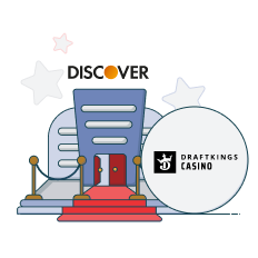 draftkings casino and discover logo