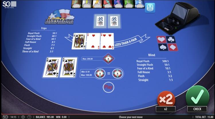 ultimate texas holdem poker screenshot